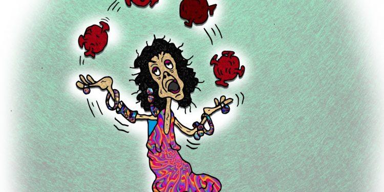 La Caricatura: La malabarista