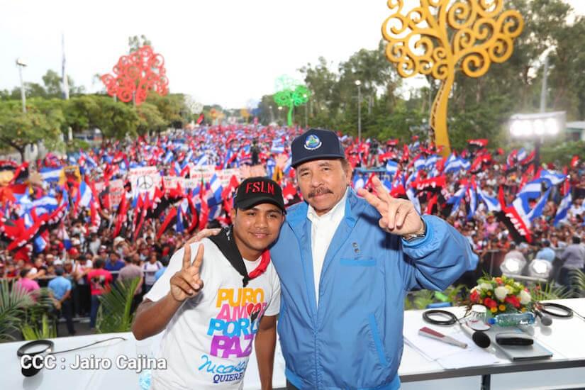 Daniel Ortega en una de las actividades partidarias en octubre 2018. Foto: Medios Oficialistas