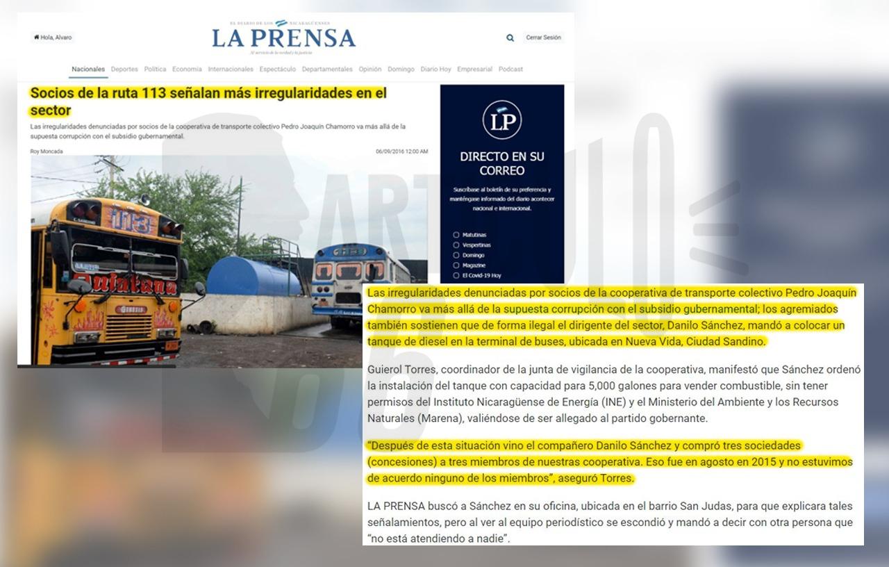 Danilo Sánchez fue acusado por socios de la Urecootraco por la retención de subsidio y la creación de una gasolinera ilegal. Foto: Artículo 66 / Edición: Luis Mejía