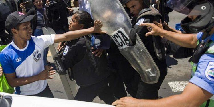 El aparato represor orteguista lideró los principales ataques a los nicaragüenses. Foto: Cortesía