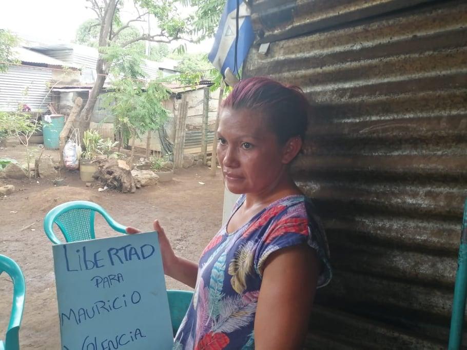 Familiares de Mauricio Valencia piden su liberación. Foto: Artículo 66 / Noel Miranda