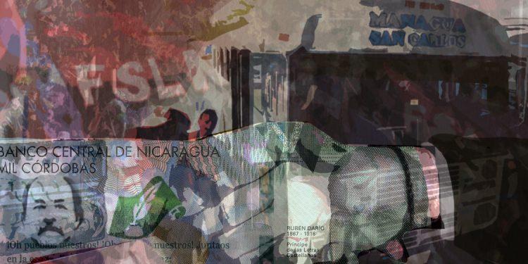 Los contratos que sangraron a 52 alcaldías para transportar a marchistas del FSLN. Ilustración / Expediente Público