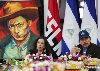 Rosario Murillo y Daniel Ortega, en la comparecencia del 18 de mayo de 2020