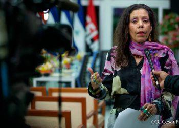 Rosario Murillo anuncia que el régimen presentará un «gran libro blanco» sobre el manejo de la pandemia del COVID-19. Foto: Medios Oficialistas