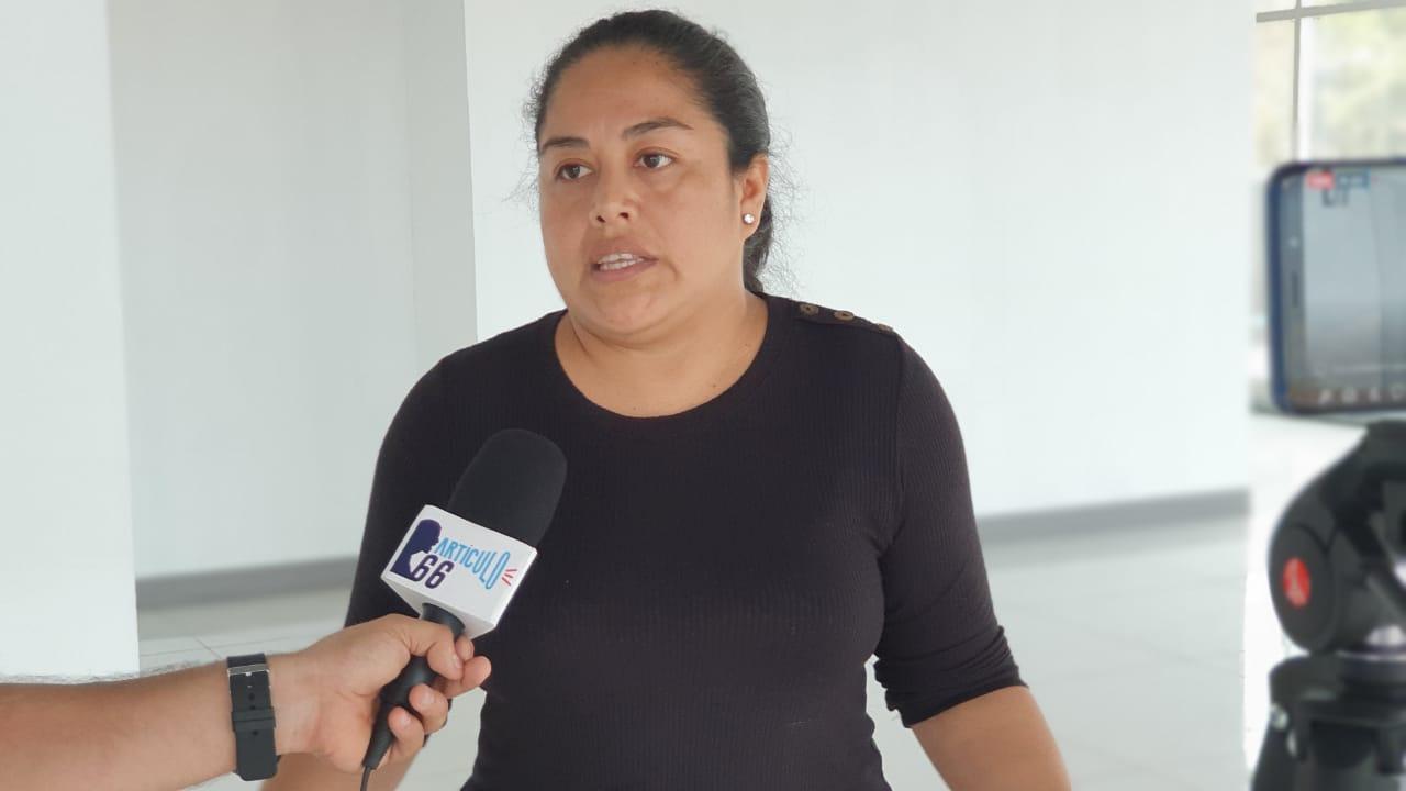 Ivannia Álvarez, representante territorial de la UNAB. Foto: Álvaro Navarro / Artículo 66