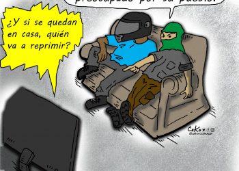 La Caricatura: El dictador manda a seguir reprimiendo