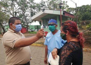 Hospital de Masaya implementa medidas higiénicas y de seguridad para prevenir brotes del COVID-19. Foto: Noel Pérez/Artículo 66