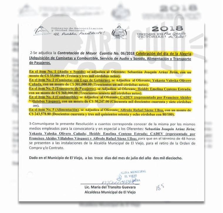 Alcaldía de El Viejo gastó 1.94 millones de córdobas en la celebración del Día de la Alegría. Foto: Artículo 66 / Edición Luis Mejía