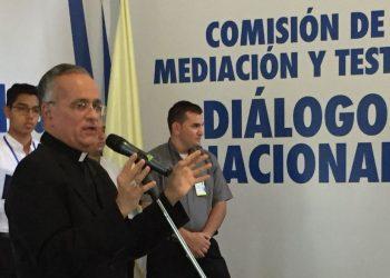 Monseñor Báez: Primer diálogo fue manifestación que la Iglesia quiere estar junto al pueblo. Foto: Cortesía