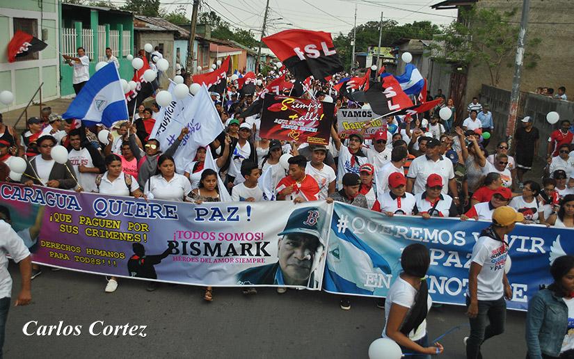 Una de las actividades del FSLN en el departamento de Carazo. Foto: Medios Oficialistas