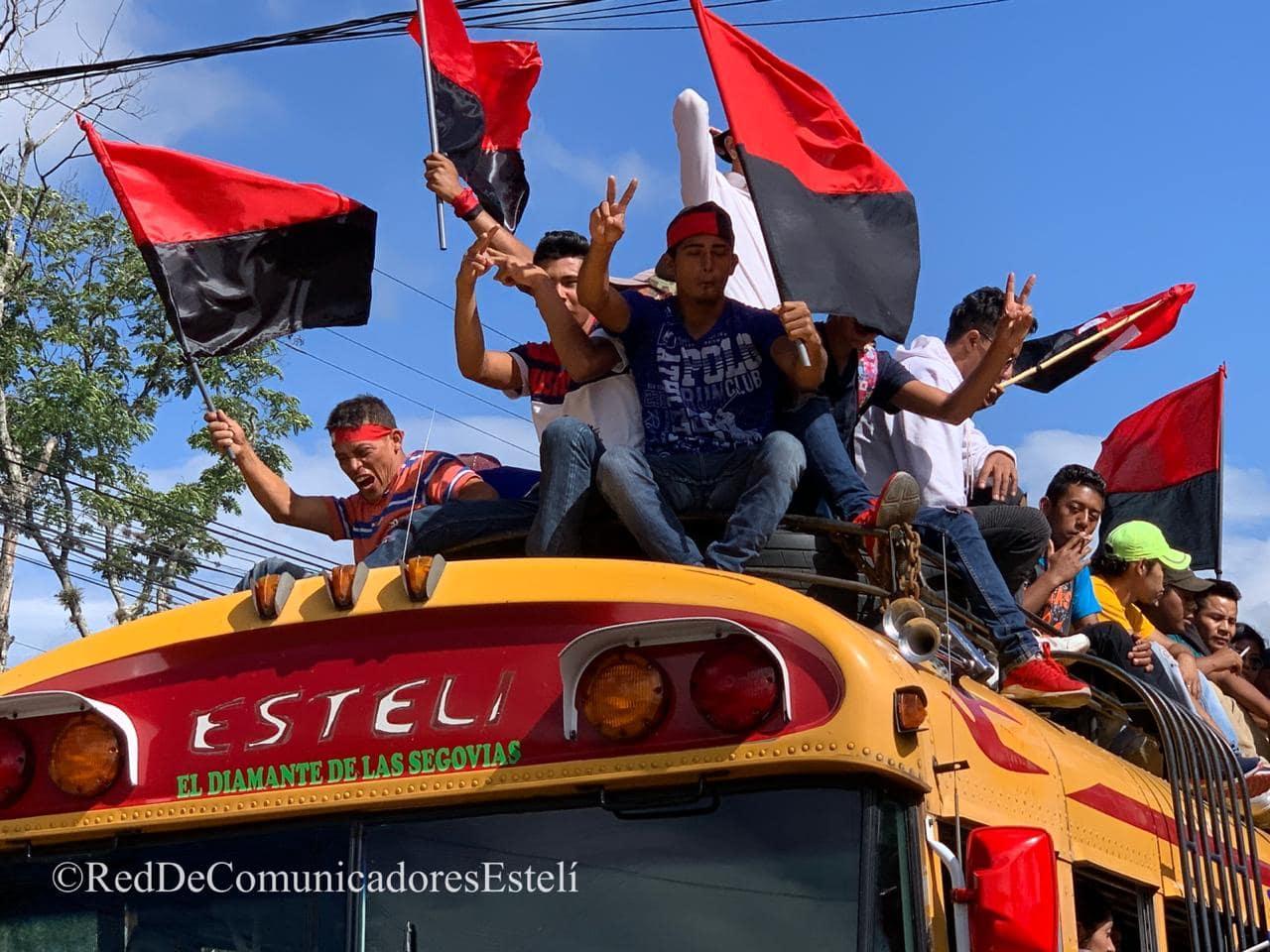 La Alcaldía de Estelí durante 2018 y 2019, pagó un total de 1.20 millones de córdobas en el servicio de transporte. Foto: Red De Comunicadores de Estelí