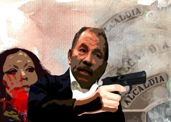 Atraco millonario en alcaldías para transportar a los que marchan «por la paz» de Daniel Ortega. Ilustración / Expediente Público