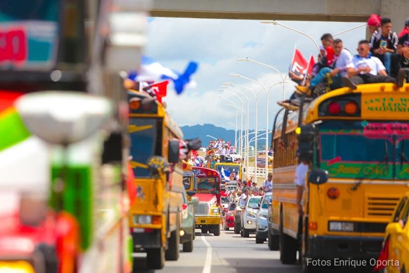 El gobierno municipal de El Viejo/ Chinandega pagó 1.97 millones de córdobas para la actividad sandinista Día de la Alegría. Foto: Medios Oficialistas