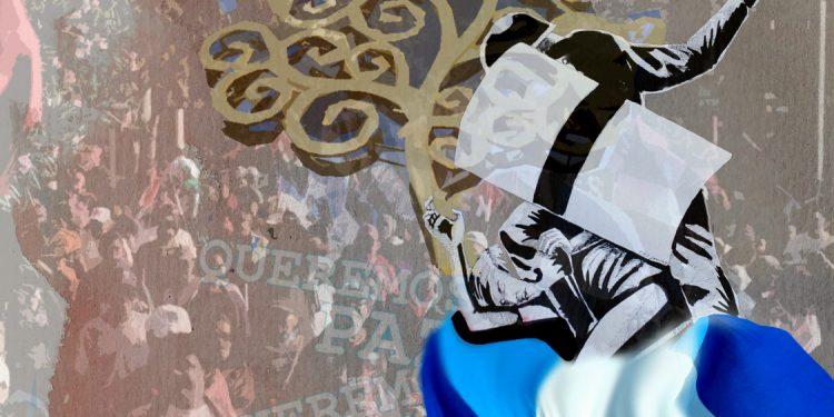 FSLN realizó más de 350 marchas «por la paz» mientras imponía el terror en todo el país. Ilustración / Expediente Público