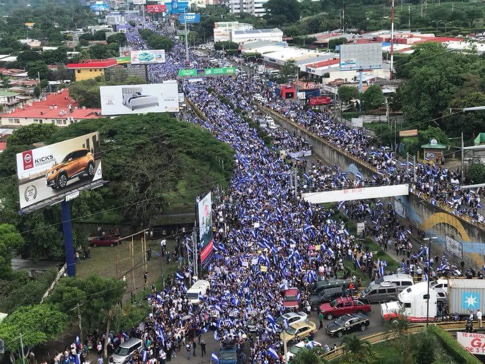 Marcha de las Madres, el 30 de mayo 2018, en Managua. Foto: Cortesía / Artículo 66