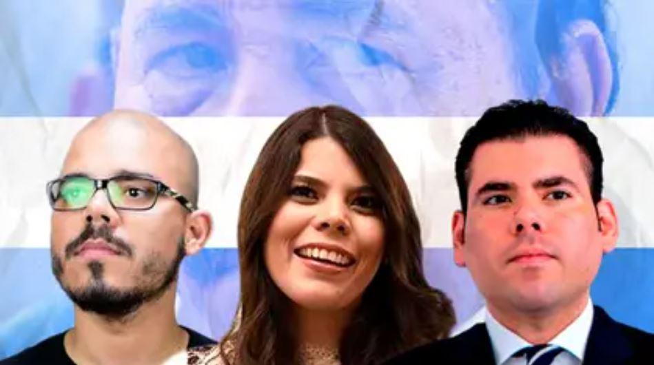 Juan Carlos, Camila y Laureano Ortega Murillo, hijos de la pareja dictatorial. Foto: Infobae