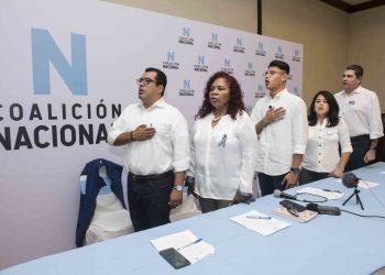 Coalición Nacional denuncia campaña de desprestigio para «socavar los avances de la unidad y provocar la ruptura». Foto: Oscar Navarrete/ LA PRENSA.