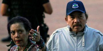Rosario Murillo y Daniel Ortega, dictadores de Nicaragua. Foto: AFP