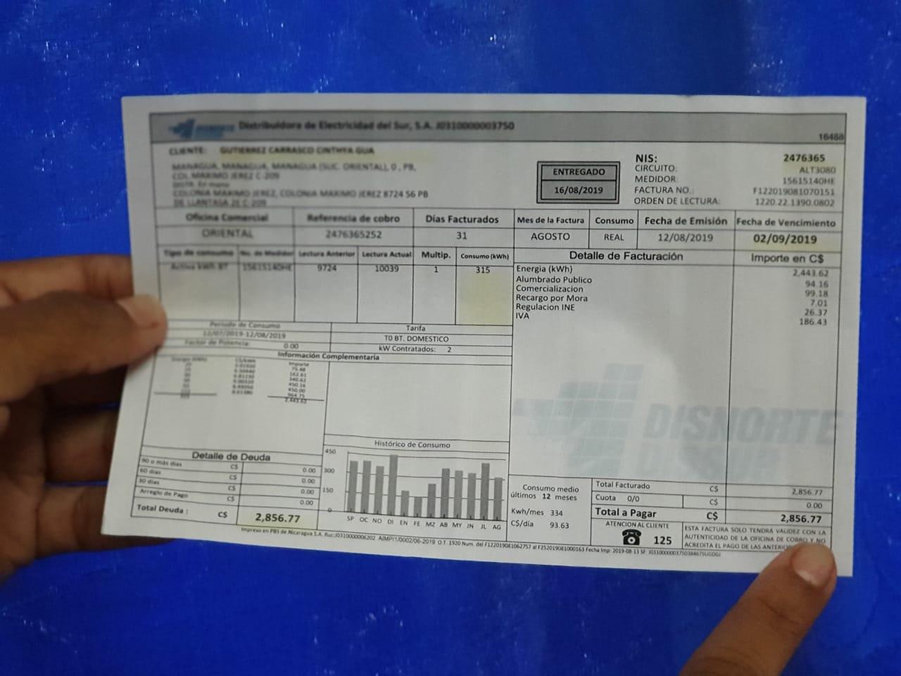 Daniel Ortega recetó tres incrementos en la factura de energía en los primeros seis meses de 2019