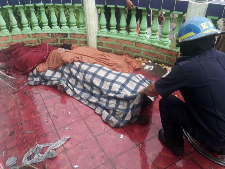 Uno de los cuerpos de las víctimas de la masacre. Foto: Tomada de Internet