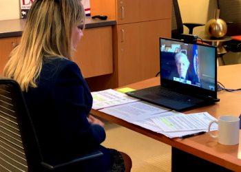 Comisionada Sophia Lacayo pide a Luis Almagro «desconocer a Ortega como mandatario». Foto: Cortesía