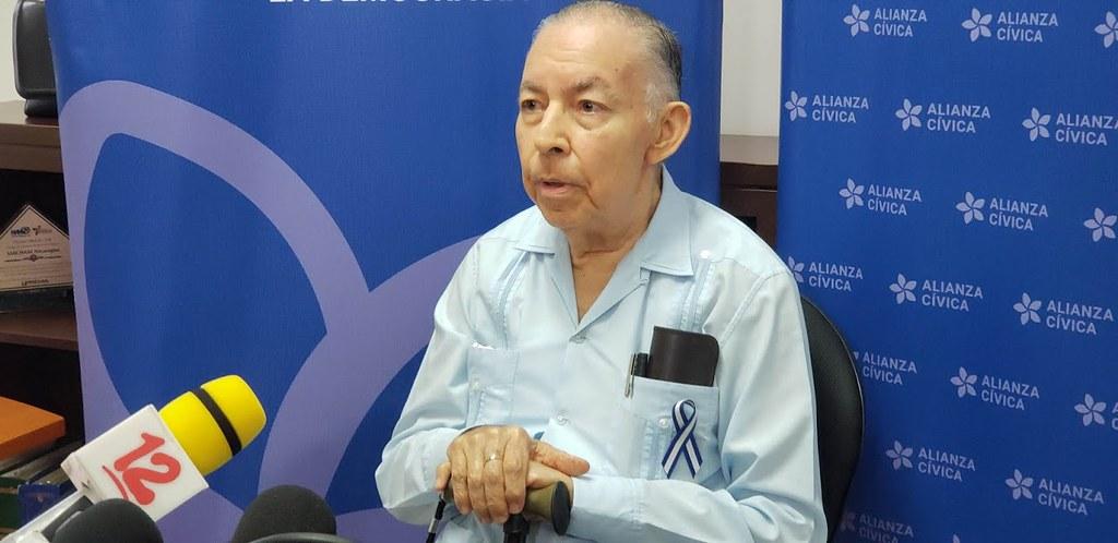 Doctor Carlos Tünnermann, coordinador general de la Alianza Cívica. Foto: Geovanny Shiffman/Artículo 66