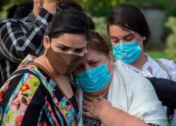 Médicos nicaragüenses exigen al régimen que «brinde los datos reales de la pandemia» del COVID-19. Foto/ Representativa de INTI OCON/AFP vía Getty Images