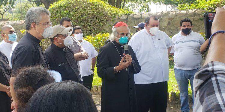 Cardenal Leopoldo Brenes califica ataque en Catedral como un acto terrorista- Foto: Geovanny Shiffman