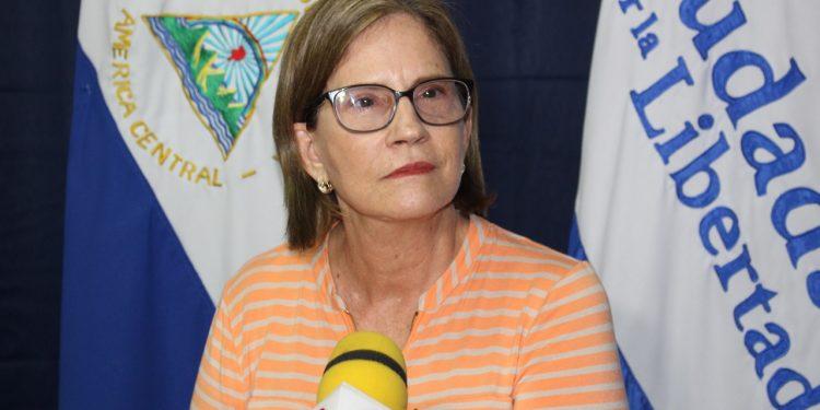 Kitty Monterrey defendió la personería jurídica otorgada a su partido por la dictadura de Daniel Ortega. Foto: Cortesía.