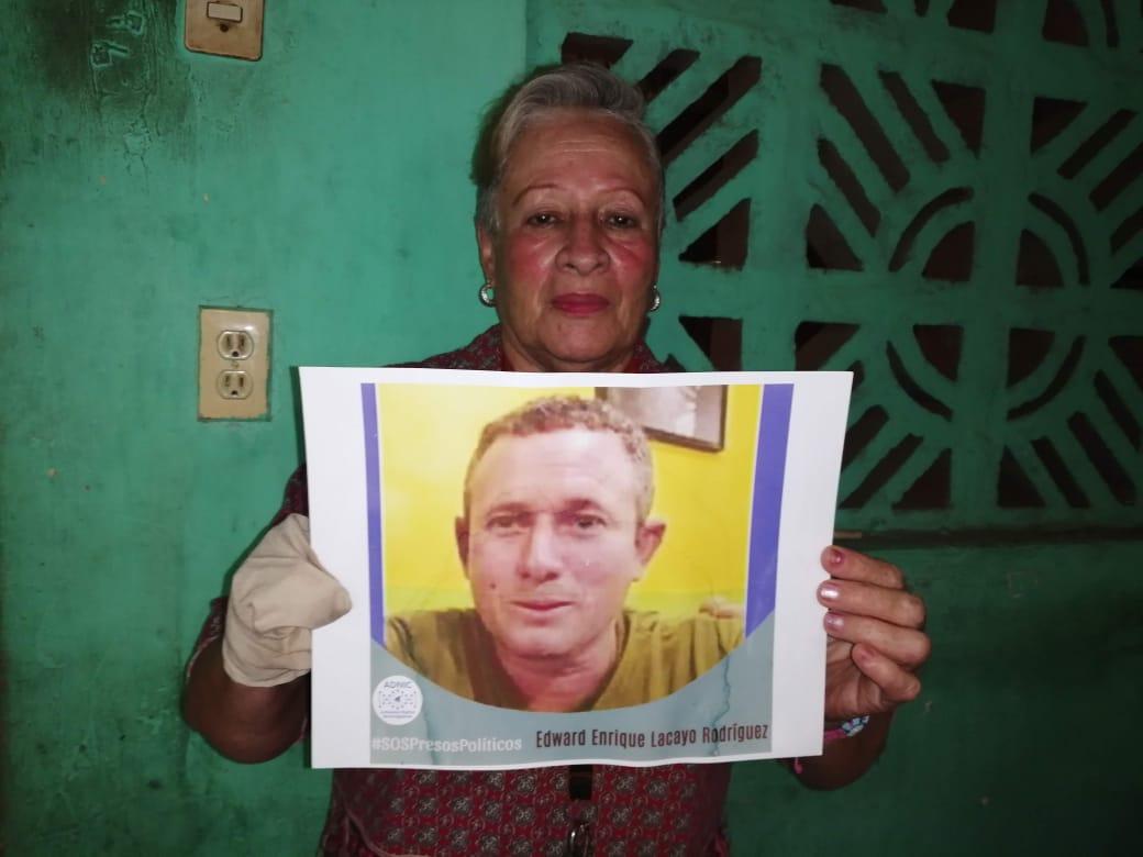 Estela Rodríguez, madre del preso político Edward Lacayo conocido como La Loba Feroz. Foto: Noel Miranda