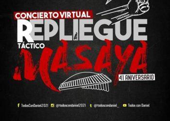 """Orteguismo de Masaya """"se replegará"""" en concierto virtual por el repliegue"""