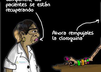 La Caricatura: El negocio de la cloroquina