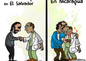 La Caricatura: Los médicos nicaragüenses despedidos