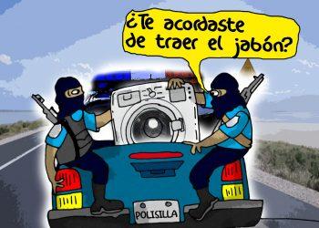 La Caricatura: Los quiebres de la Polisilla