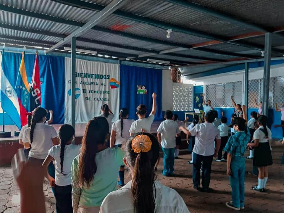 Colegios públicos de Masaya inician segundo semestre educativo con precaria presencia de estudiantes. Foto: Tomada del Facebook de la Alcaldía de Masaya