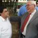 Fallece el exalcalde de Chinandega y exdiputado Enrique Saravia. En la foto, Saravia (derecha) junto al diputado orteguista José Figueroa.