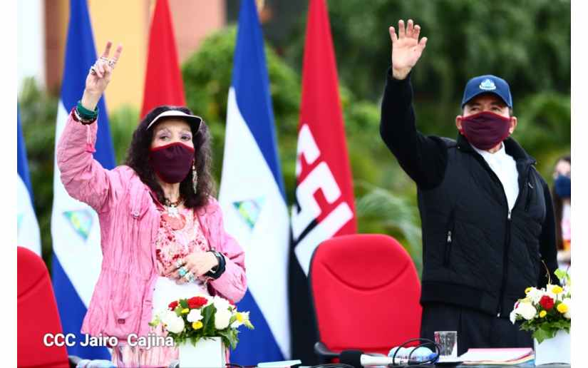 Rosario Murillo y Daniel Ortega, dictadores de Nicaragua.