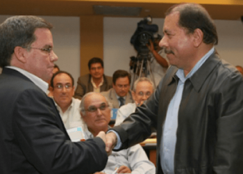 """Daniel Ortega y José Adán Aguerri, durante su """"amorío"""" de más de una década"""