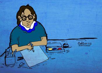 Cako, de Artículo 66, gana premio a la mejor caricatura retratando la censura implantada por Rosario Murillo