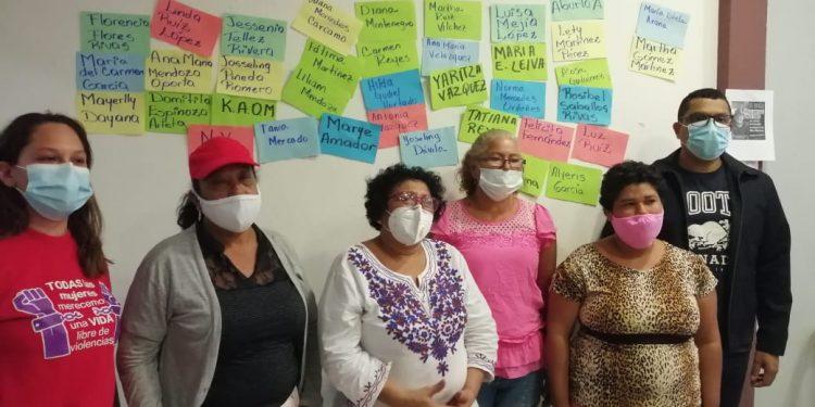 Familiares de víctimas de femicidio denuncian impunidad. Foto: N. Pérez/Artículo 66