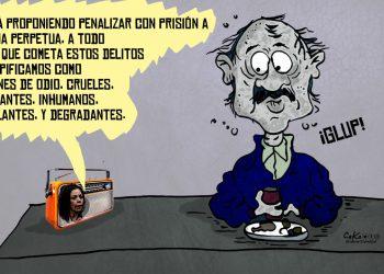 La Caricatura: El dictador tragando gordo