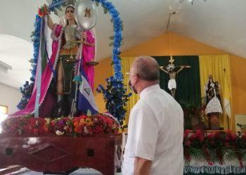 Masayas celebran a San Miguel Arcángel a puertas cerradas. Foto: Noel Pérez/Artículo 66