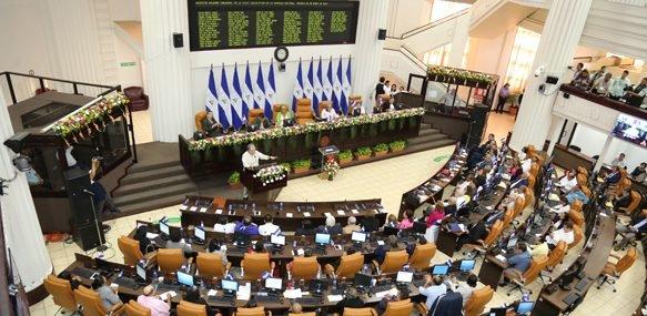 Diputados sandinistas aprobaron, sin discutir ni analizar los artículos, la Ley de Agentes extranjeros. Foto: Tomada de internet.