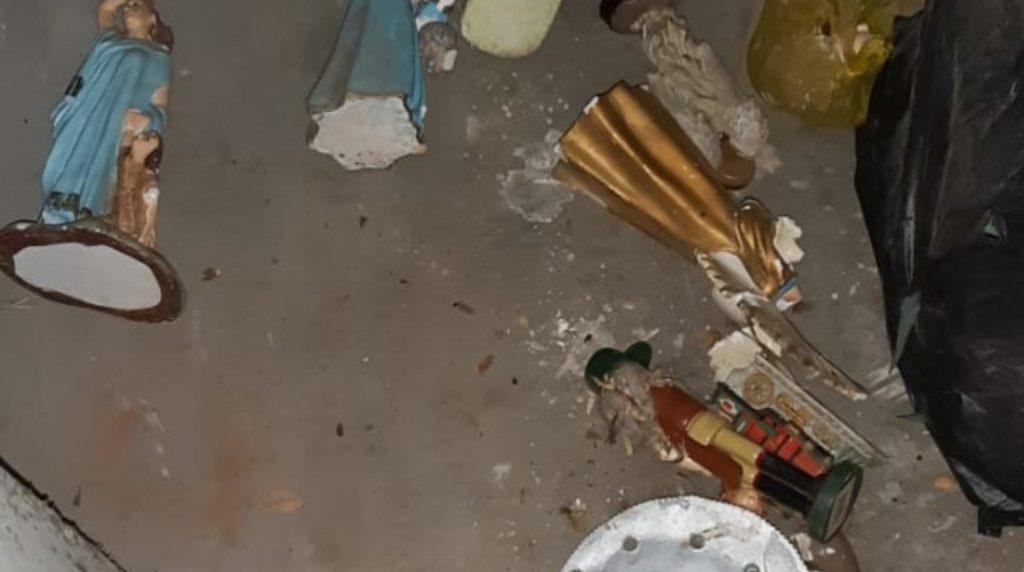 Delincuentes roban y profanan capilla Nuestra Señora de La Merced en Managua. Foto: tomada de Facebook