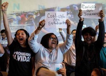 Sector estudiantil anuncia oficialmente su incorporación a la Coalición Nacional. Foto: La Prensa. Panamá.