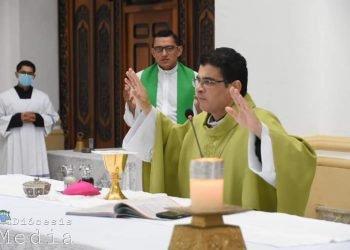 Monseñor Rolando Álvares exhorta a los políticos de Nicaragua «a vivir la vida de Santo Tomás Moro». Foto: Diócesis de Matagalpa