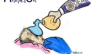 La Caricatura: El último aire al dictador