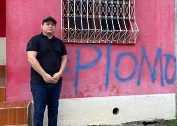 «Tienen miedo», señala joven cuya casa fue rayada con la frase «PLOMO» en Chichigalpa. Foto: Cortesía.
