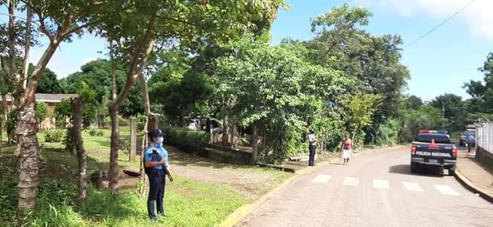 Policía reanuda asedio contra de exreos políticos de Masaya. Foto: Artículo 66 / Cortesía