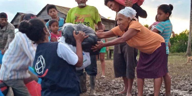 Hambre en albergues de Bilwi y siguen esperando la ayuda anunciada. Foto: Internet.